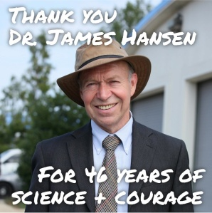 350.org is honoring Dr. Hansen for his leadership across 4 decades of climate change.