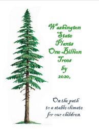 Billion Tree Campaign postcard Front&Back