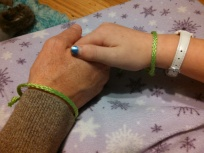 green wrist bands