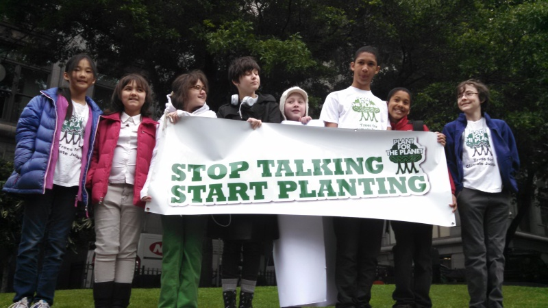 Youth Plaintiffs outside King County Courthouse for Oral Arguments May 15, 2015