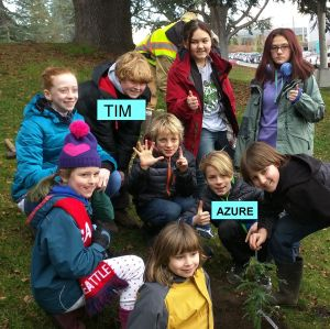 PftP kids planted a Giant Redwood tree at UW